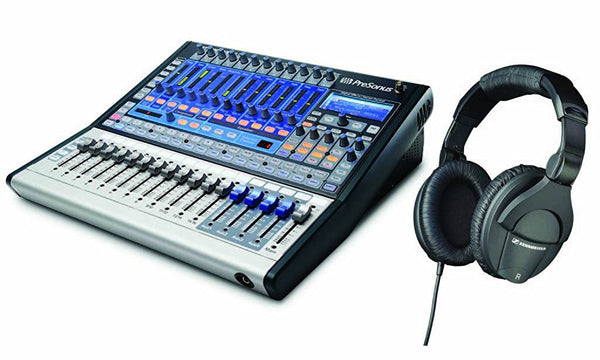 Presonus StudioLive 16.0.2 Performance & Recording Digital Mixer with Sennheiser HD280 Pro Studio Quality Headphones Kit