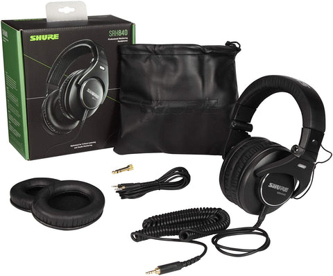 Shure SRH Professional Headphones, Black (SRH840-BK)