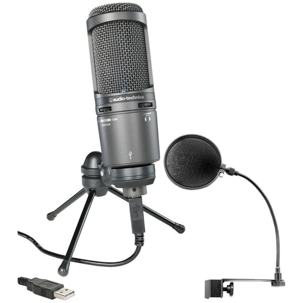 Audio Technica AT2020USB+ Cardioid Condenser Microphone w/Pop Filter