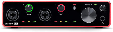 Focusrite Scarlett 4i4 (3rd Gen) USB Audio Interface with Pro Tools First+Ableton Software