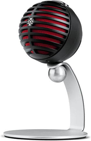 Shure MOTIV Vocal Condenser Microphone, Black with Red Foam (MV5-B-DIG)