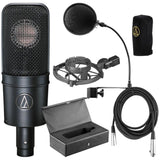 Audio-Technica AT4040 Cardioid Condenser Mic w/Pop Filter and 20' XLR Cable