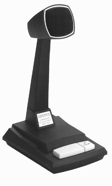 CAD 878hl-2 Astatic Omnidirectional Dynamic Desk Top Microphone with Locking Push to Talk Switch