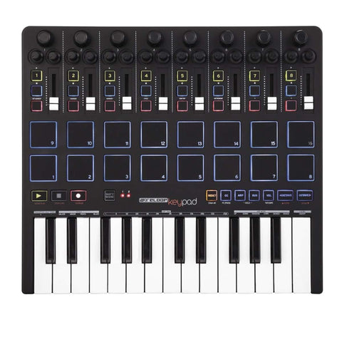 Reloop Keypad Compact USB MIDI Keyboard with DAW Control and Drum Pads (Refurb)