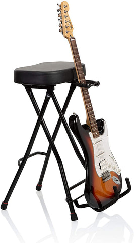 Gator Frameworks GFW-GTRSTOOL Stool+Stand seat for Acoustic+Electric+Bass Guitar