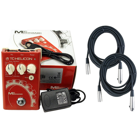 TC-Helicon Mic Mechanic Vocal Effects Pedal with 2 Free 20' XLR Cables(Refurb)