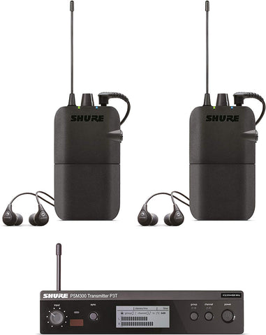 Shure In-Ear Audio Monitor System, Black, H20 Band: 518-542 MHz (P3TR112TW-H20)