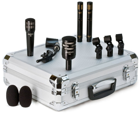 Audix DP-QUAD - Professional 4-piece Drum and Percussion Microphone Package with Mounting Accessories (Refurb)