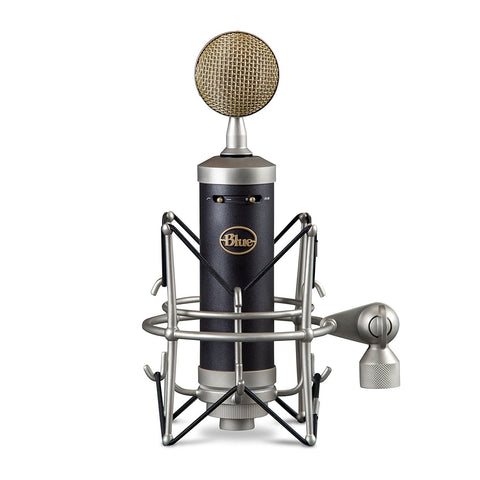 Blue Baby Bottle Microphone Bundle with Mic Boom Stand, XLR Cable and Studio Headphones