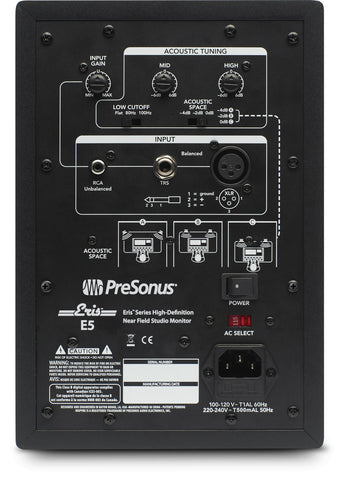 Presonus Eris E5 80-Watt Channel Studio Monitor