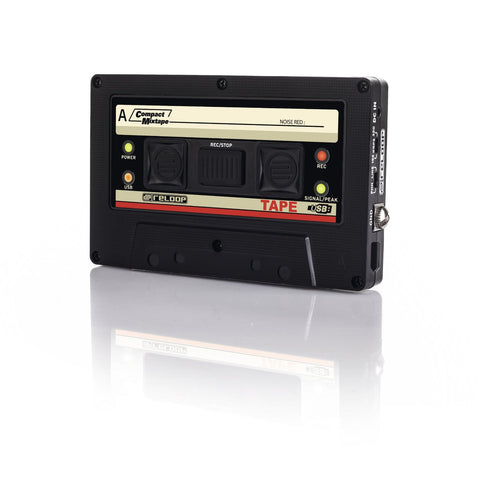 Reloop USB Mixtape Recorder with Retro Cassette Look, Black (TAPE) (Refurb)