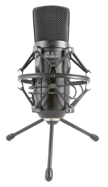 CAD Audio GXL2600USB Large Diaphragm Cardioid Condenser Microphone with Tripod Stand and 10-Feet USB Cable