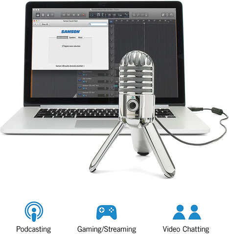 Samson Meteor Mic USB Studio Streaming Microphone (Chrome)