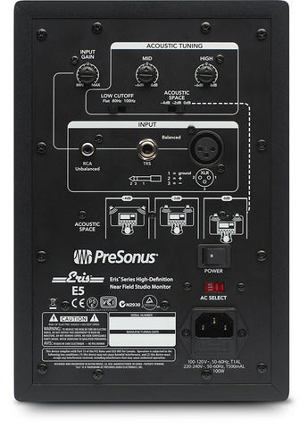 PreSonus Eris E5 2-Way Active Studio Monitor (Single) (Refurb)