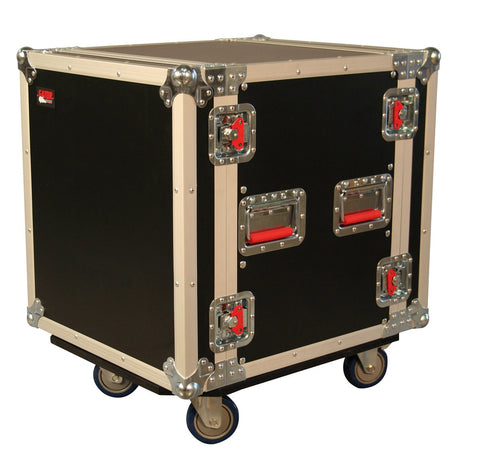Gator 12U, Standard Audio Road Rack Case w/ Casters