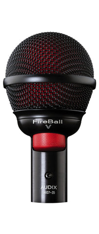 Audix Fireball-V Dynamic Harmonica Instrument Microphone with volume control