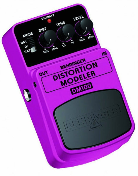 Behringer DISTORTION MODELER DM100 Distortion Modeling Effects Pedal