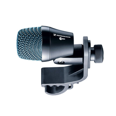 Sennheiser E904 Professional cardioid dynamic with stand receiver and MZH604 clip for drum rims and suspension mounts.
