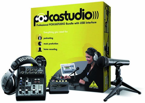 Behringer PODCASTUDIO USB Professional PODCASTUDIO Bundle with USB/Audio Interface