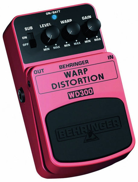 Behringer WARP DISTORTION WD300 Ultimate Warp Distortion Effects Pedal