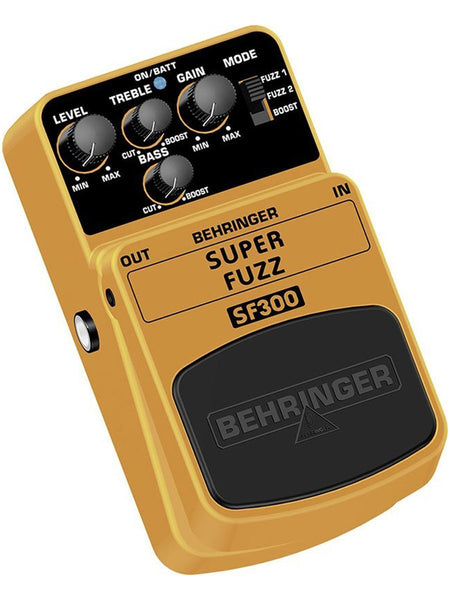 Behringer SUPER FUZZ SF300 3-Mode Fuzz Distortion Effects Pedal