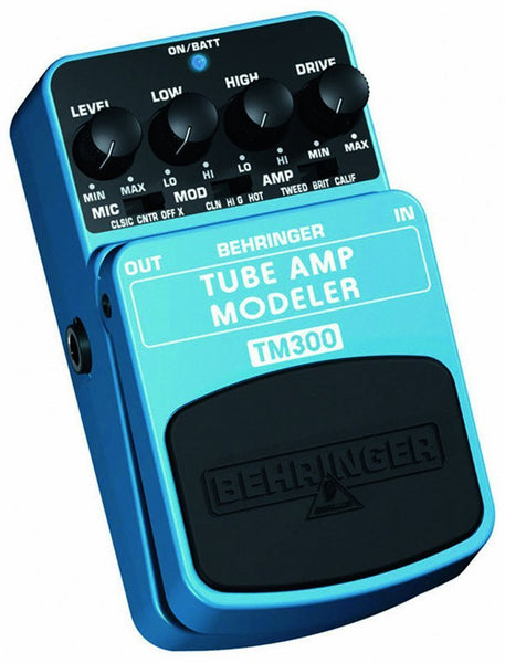 Behringer TUBE AMP MODELER TM300 Ultimate Tube Amp Modeling Effects Pedal