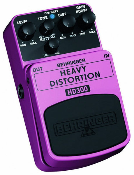 Behringer HEAVY DISTORTION HD300 Heavy Metal Distortion Effects Pedal