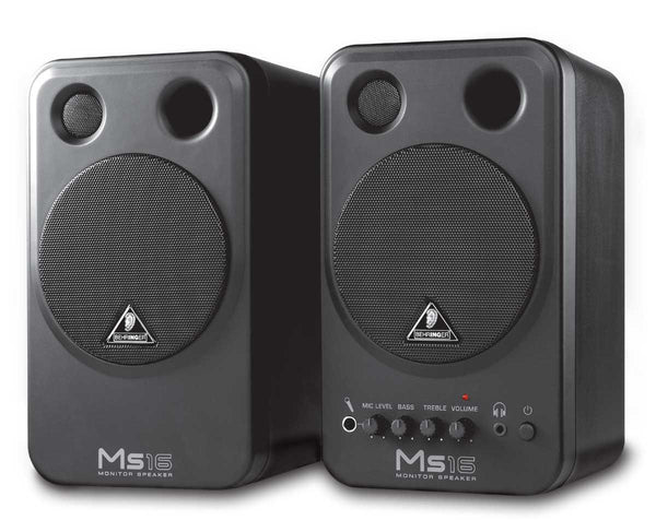 Behringer MONITOR SPEAKERS MS16 High-Performance, Active 16-Watt Personal Monitor System