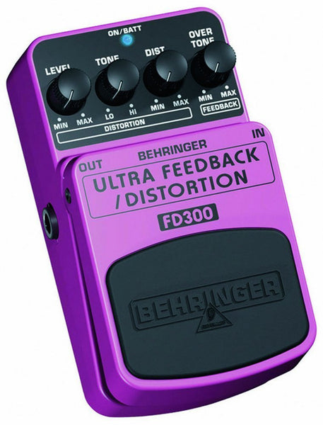 Behringer ULTRA FEEDBACK/DISTORTION FD300 Ultimate Feedback/Distortion Effects Pedal
