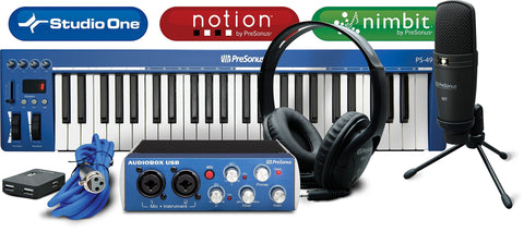 PreSonus AudioBox Creation Suite Bundle w/HD3 Headphones, PS49 Keyboard,