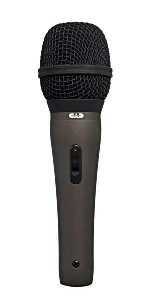 CAD CAD25A Supercardioid Dynamic Microphone with on/off Switch - with 15' XLR-M to XLR-F Cable