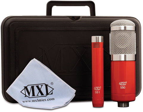 Marshall MXL-550/551 Microphone Ensemble includes 1 550 microphone and 1 551 Instrument Microphone
