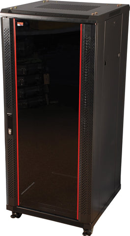 "Gator 18U, 23"" Deep Rack w/Glass Door"