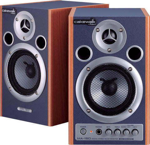 Roland MA-15DCW DIgital Stereo Micro Monitors, in Blue