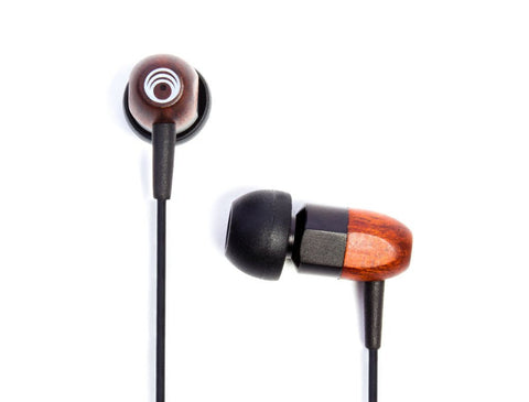 Thinksound ts02+mic Wooden Headphones with Microphone (black chocolate)