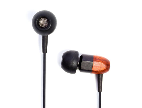 thinksound ts02-blkchoc 8mm Passive Noise Isolating Wooden Headphone with Award Winning Warm and Balanced Sound (Black/Chocolate) (Refurb)