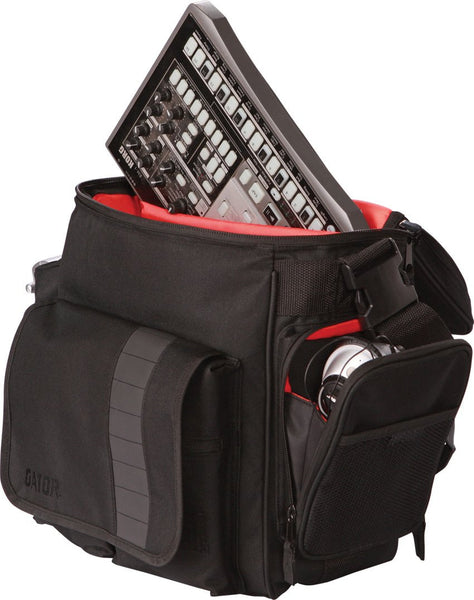 Gator G-CLUB-DJ BAG DJ Bag; Accommodates 35 LP's, Serato-Style Interface, & Accessories