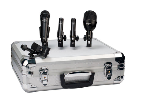Audix FP QUAD drum mic pack with 1 F6, 1 F5, and 2 F9 microphones (Refurb)