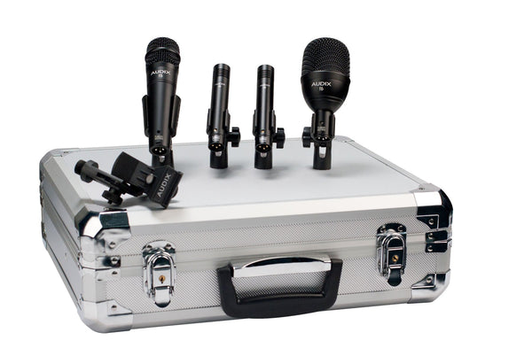 Audix FP QUAD drum mic pack with 1 F6, 1 F5, and 2 F9 microphones