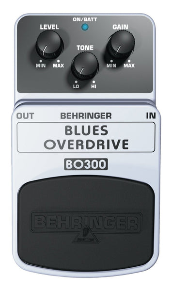 Behringer BLUES OVERDRIVE BO300 Classic Overdrive Effects Pedal