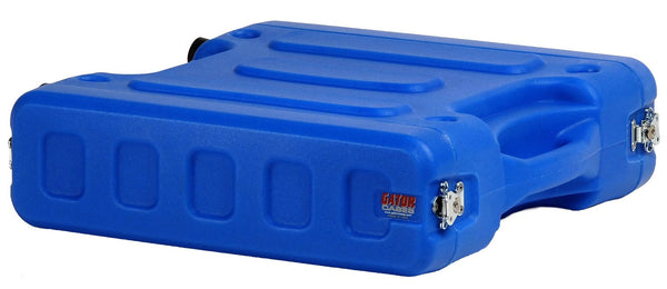 "Gator 2U, 19"" Deep Molded Audio Rack; Blue"