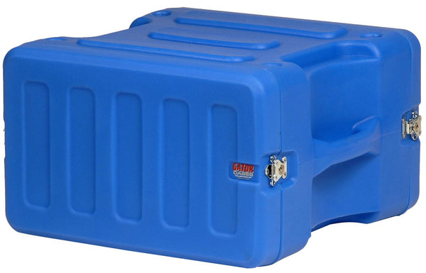 "Gator 6U, 19"" Deep Molded Audio Rack; Blue"