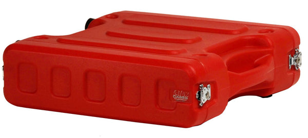 "Gator 2U, 19"" Deep Molded Audio Rack; Red"