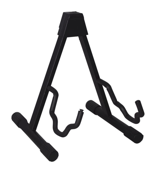 "Gator GFW-GTRA-4000 Frameworks ""A"" style guitar stand with contoured cradle to fit electric guitar bass guitar or dread guitar Frameworks ""A"" style guitar stand with contoured cradle to fit electric guitar bass guitar or dread guitar"