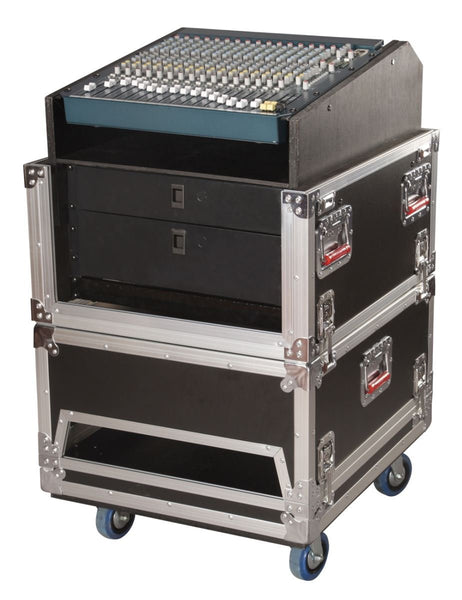 Gator 14U Top, 6U Side Audio Road Console Rack