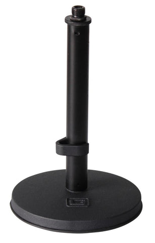 "Gator GFW-MIC-0600 Frameworks desktop mic stand with 6"" round base, and fixed height of 9"" Frameworks desktop mic stand with 6"" round base, and fixed height of 9"""