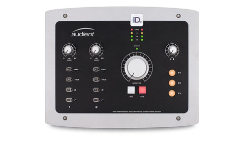 Audient iD22 USB Audio Interface Bundle with 2 Mic Preamps, Instrument Input and Studio Monitor Controller Functionality with Headphone & Microphone Cable (Audio Interface Bundle)