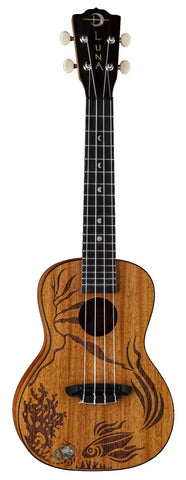 Luna Ukulele Concert Coral All-Solid Top, Back, Sides - Satin Finish