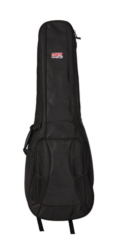 Gator 4G Style gig bag for 2 bass guitars with adjustable backpack straps, GB-4G-BASSX2