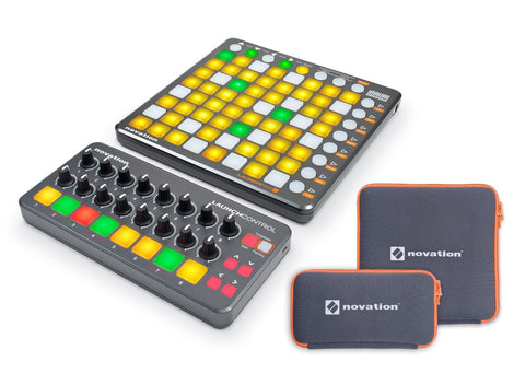 Novation Launchpad S Pack, Launch Control, Ableton Live Lite 9, 1GB of loops and sounds, and two custom designed cases Bundle (Refurb)